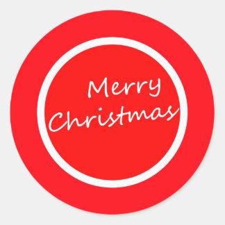 Merry Christmas (Sticker) Round Sticker