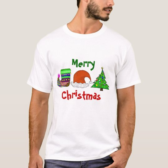 Merry Christmas, Stocking, Cap, Tree Tshirt
