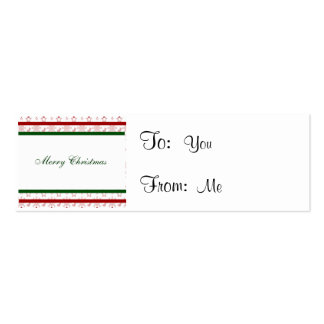 Merry Christmas Stockings and Snowflakes Pack Of Skinny Business Cards