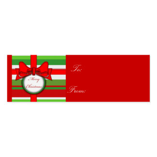 merry christmas stripe, gift tag business card template