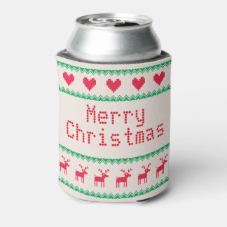 Merry Christmas Sweater Christmas Can Cooler