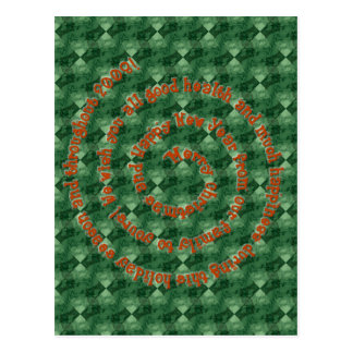 Merry Christmas Swirl Verse Postcard