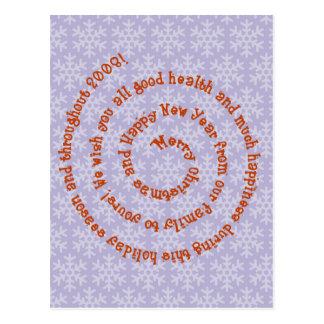 Merry Christmas Swirl Verse Postcards