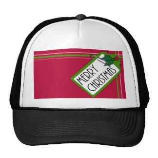 Merry Christmas Tag Mesh Hats