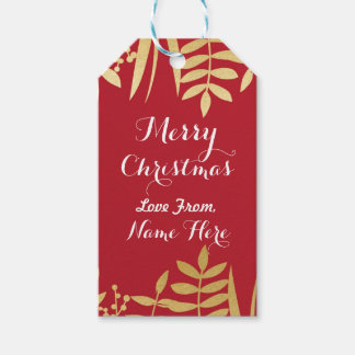 Merry Christmas Tags Merry Xmas Tag Red & Gold
