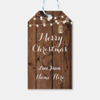 Merry Christmas Tags Merry Xmas Tag Wood Lights