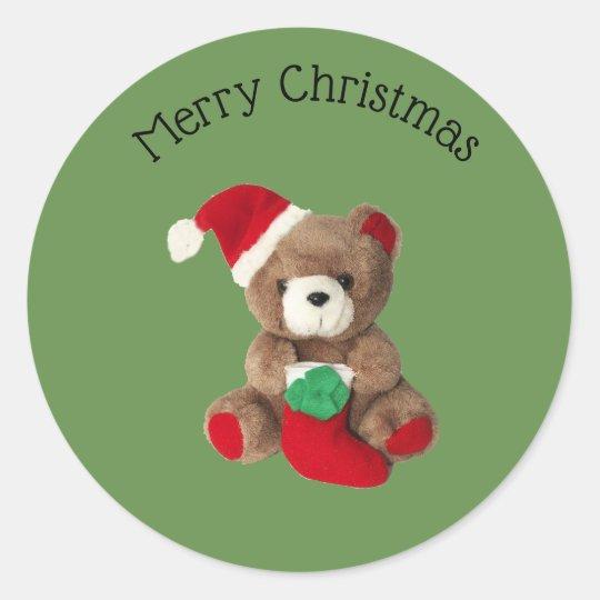 Merry Christmas teddy bear Chrismas sticker