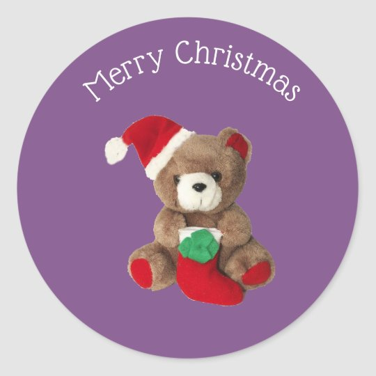 Merry Christmas teddy bear Chrismas sticker