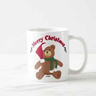 Merry Christmas Teddy Bear Coffee Mugs