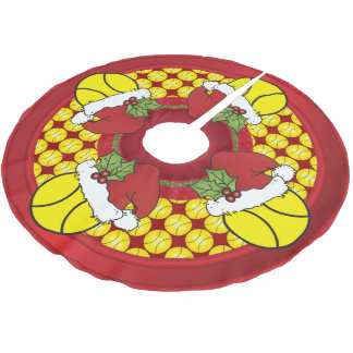 Merry Christmas Tennis Lovers Brushed Polyester Tree Skirt