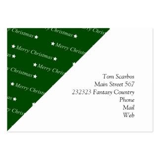 Merry Christmas, Text, green Business Card
