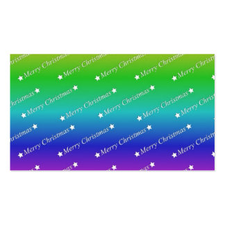 merry christmas,text,rainbow business card