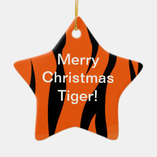 Merry Christmas Tiger Ornament