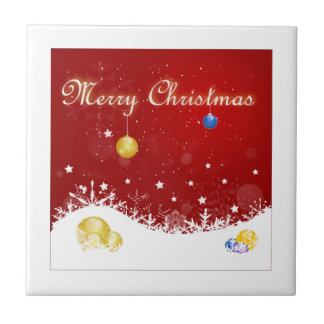 Merry Christmas Ceramic Tile