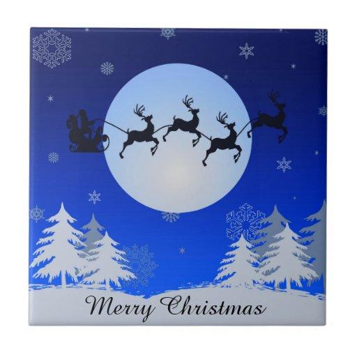 Merry Christmas Ceramic Tiles