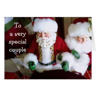 MERRY CHRISTMAS TO A SPECIAL COUPLE GREETING CARD