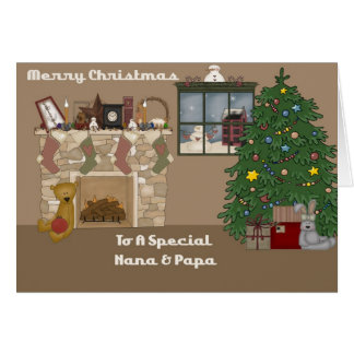 Merry Christmas To A Special Nana & Papa Greeting Card
