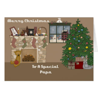 Merry Christmas To A Special Papa Greeting Card