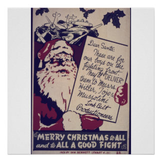 Merry Christmas to All And to All a Good Fight Poster