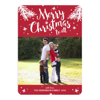Merry Christmas To All Holiday Photo 13 Cm X 18 Cm Invitation Card
