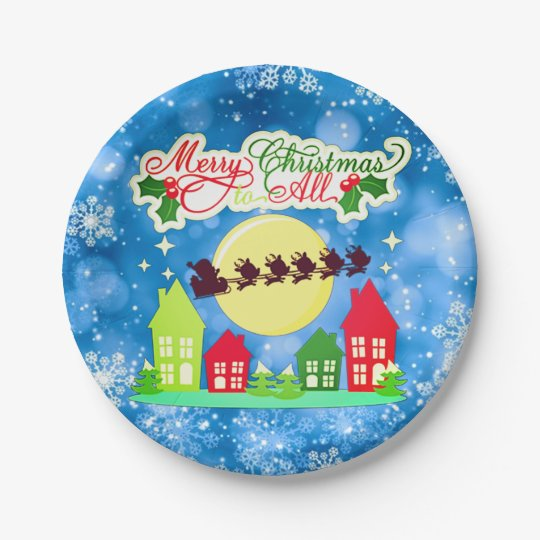 Merry Christmas To All Paper Plate