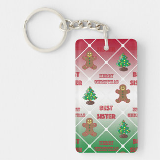 Merry Christmas to best sister Key Ring