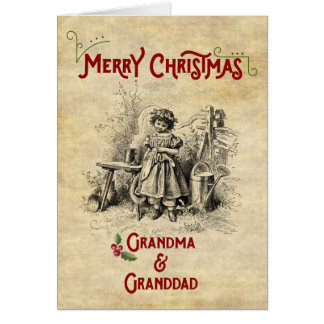 Merry Christmas to both Grandparents Card