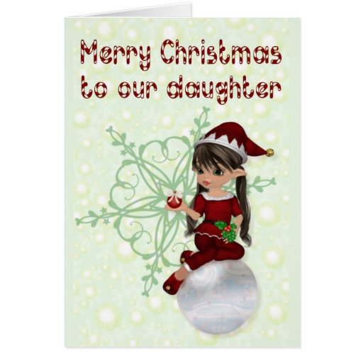 Merry Christmas to daughter Greeting Cards