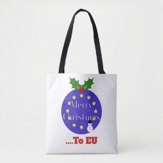 """Merry Christmas..To EU"" Brexit Christmas Tote Bag"