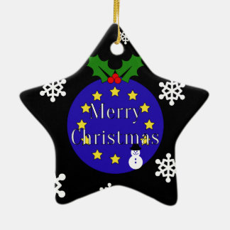 """Merry Christmas..To EU!"" Dble-Sided Brexit Christmas Ornament"