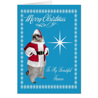 Merry Christmas To Fiancee Greeting Card