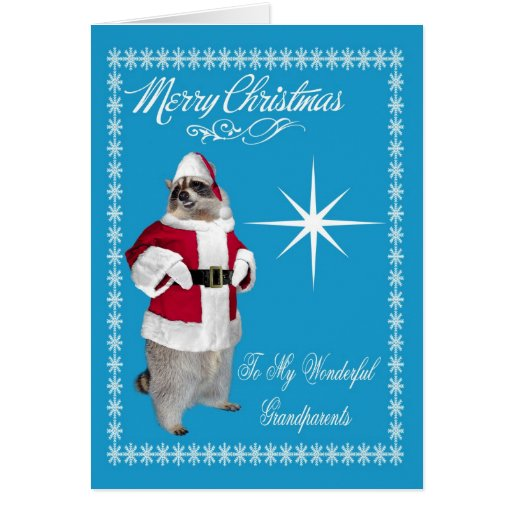 Merry Christmas To Grandparents Greeting Card