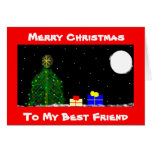 Merry Christmas, To My Best Friend Greeting Card
