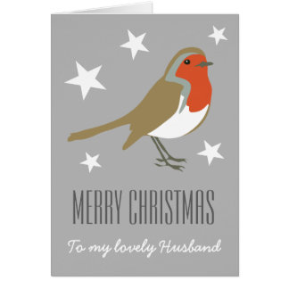 Merry Christmas to My Lovely Husband Robin Card