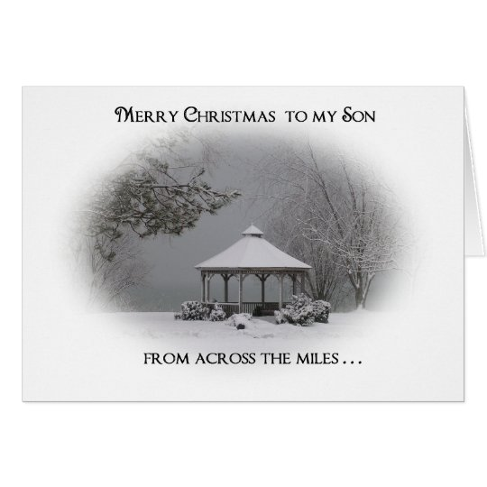 "Merry Christmas to Son-""from across the miles"" Card"