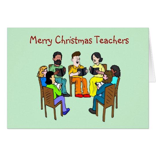 Merry Christmas to teacher school teacher xmas Card