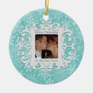 Merry Christmas to the One I Love Custom Photo Christmas Ornament