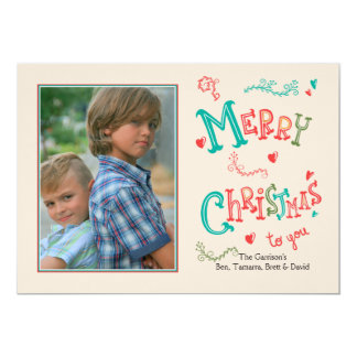 Merry Christmas To You Photo Holiday Card 13 Cm X 18 Cm Invitation Card
