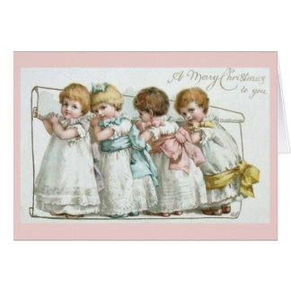 Merry Christmas Toddlers Vintage Card