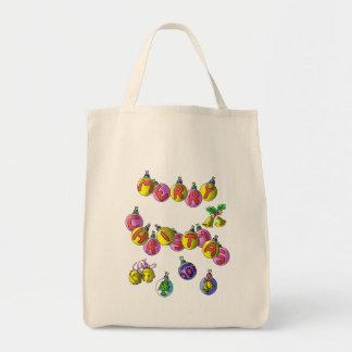 Merry Christmas; tote bag