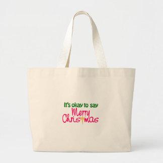 Merry Christmas Jumbo Tote Bag