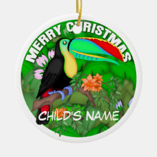 Merry Christmas Toucan Christmas Ornament
