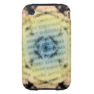 Merry Christmas Tough iPhone 3 Cases