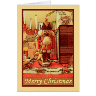 Merry Christmas toy soldier to military person Greeting Card
