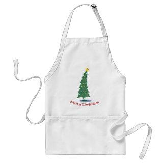 Merry Christmas Tree Apron