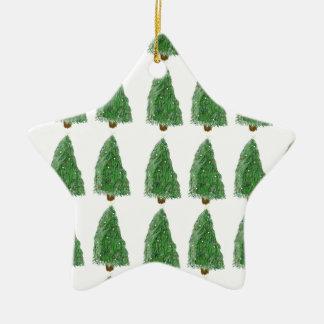 merry christmas tree ceramic star decoration