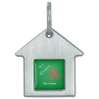 Merry Christmas Tree, Customize Pet ID Pet Name Tag