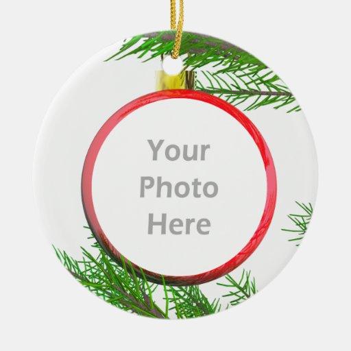 Merry Christmas Tree Decoration (photo frame) Christmas Ornament