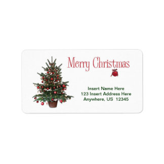 Merry Christmas Tree Label