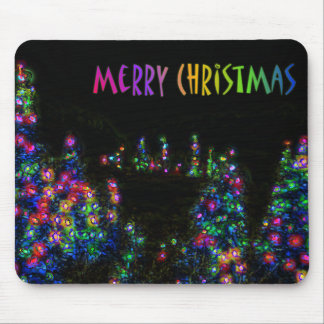 Merry Christmas Tree Lights Mousepad